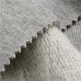 Sweat melangegrau, 90 cm Reststück