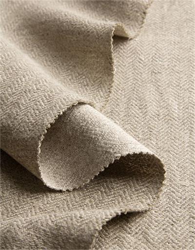 bio kerngrat gewebe meterware leinen natur grau naturbelassen anita pavani stoffe. Black Bedroom Furniture Sets. Home Design Ideas