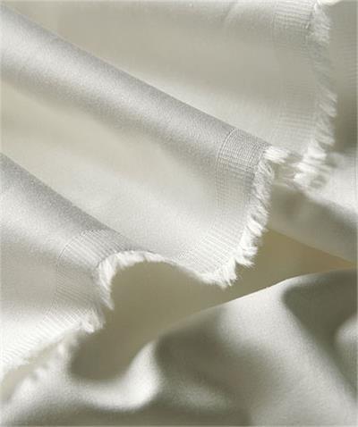 China Baumwollsatin 2 Gewebe Meterware Baumwolle Creme Weiß ü