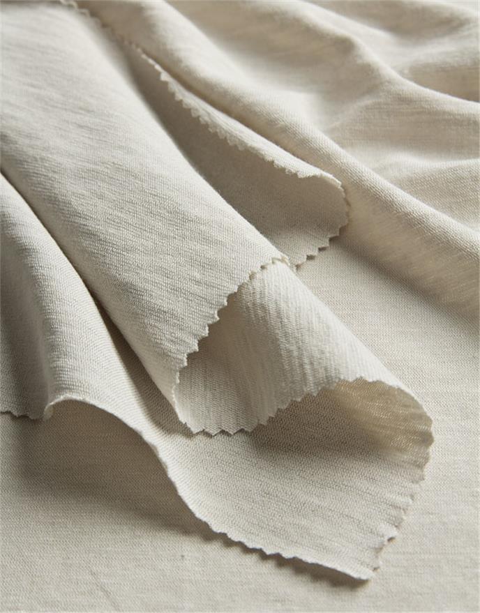 fatibella strickstoff meterware baumwolle leinen beige ital anita pavani stoffe. Black Bedroom Furniture Sets. Home Design Ideas