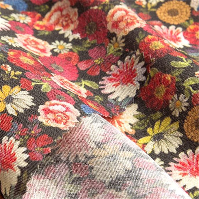 fiore nel buio gewebe meterware viskose mehrfarbig bunt bed anita pavani stoffe. Black Bedroom Furniture Sets. Home Design Ideas