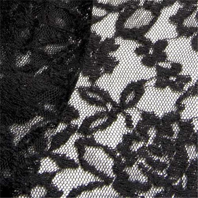 germaine schwarz spitze t ll meterware wolle seide schwarz anita pavani stoffe. Black Bedroom Furniture Sets. Home Design Ideas