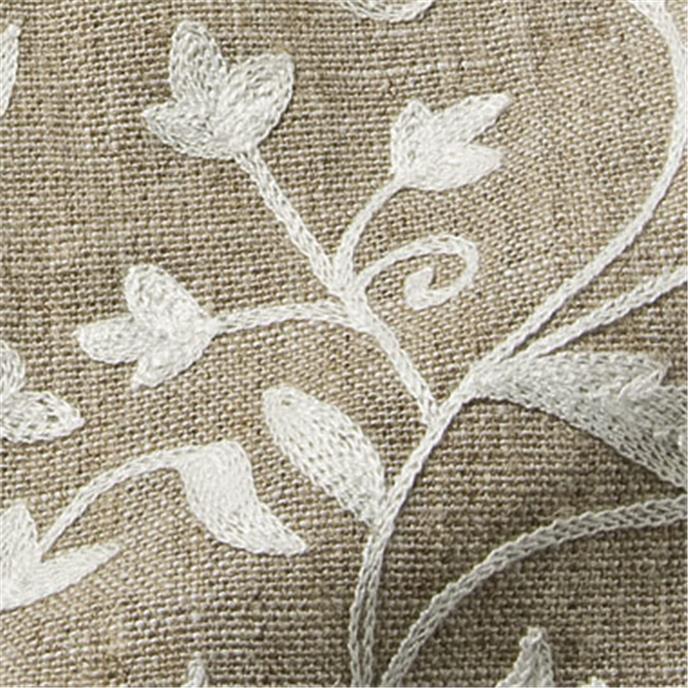 isfahan gewebe stickerei meterware leinen natur grau naturbe anita pavani stoffe. Black Bedroom Furniture Sets. Home Design Ideas