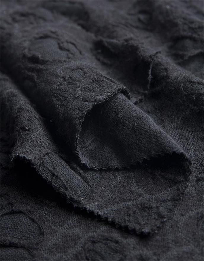 pezzetto nero strickstoff meterware baumwolle wolle schwarz anita pavani stoffe. Black Bedroom Furniture Sets. Home Design Ideas
