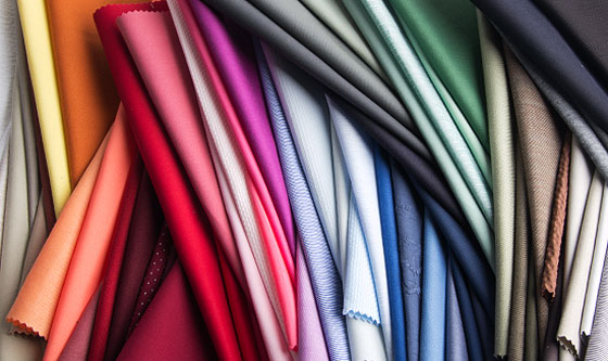 Plain colored cotton fabrics
