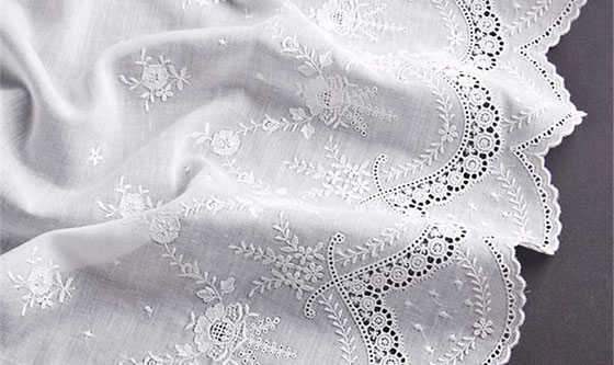 Embroidered cotton-fabrics